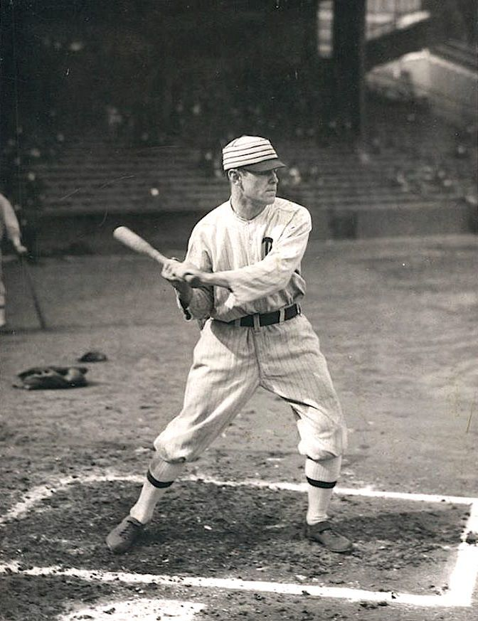 "FIRST BASEMAN: Philadelphia Athletics first baseman John Phalen ""Stuffy"" McInnis. The nickname came from ""that's the stuff, kid"". He played for 6 different clubs, but most notably with the great A's clubs of the era. McInnis had a lifetime batting average: .307"