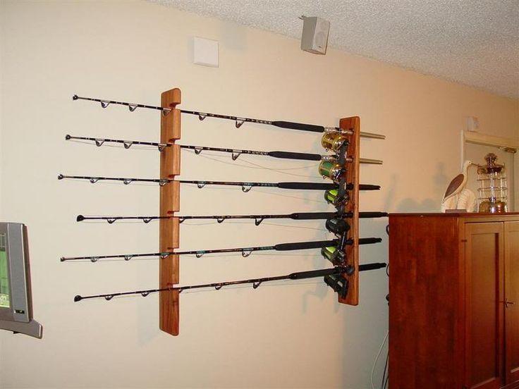Best 25 fishing rod rack ideas on pinterest fishing for Fishing rod holders for home