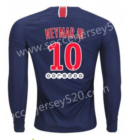 417ff2f68 2018-19 Paris SG Home Blue #10 ( NEYMAR JR ) LS Thailand Soccer ...