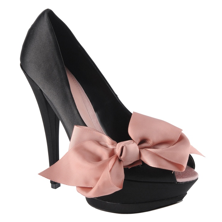 aldo ♥: Gifts Cards, Bows Heels, Cute Shoes, Style, Bow Shoes, Pink Bows, Black Heels, Big Bows, Bows Shoes