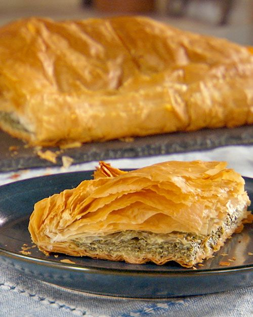 Spinach Pie (Byrek Mi Spinaq) Recipe\n