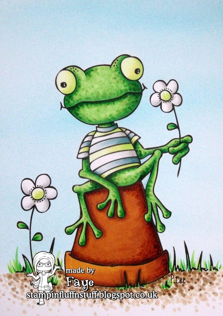Веселый лягушонок рисунок