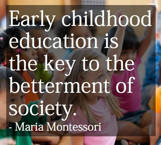 Truth.  #quotes #montessori #preschool #earlyyears #edtech