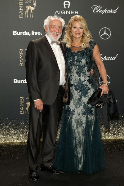 Elena Hallervorden Photos - Dieter Hallervorden and his wife Elena arrive at the Bambi Awards 2017 at Stage Theater on November 16, 2017 in Berlin, Germany. - Red Carpet Arrivals - Bambi Awards 2017
