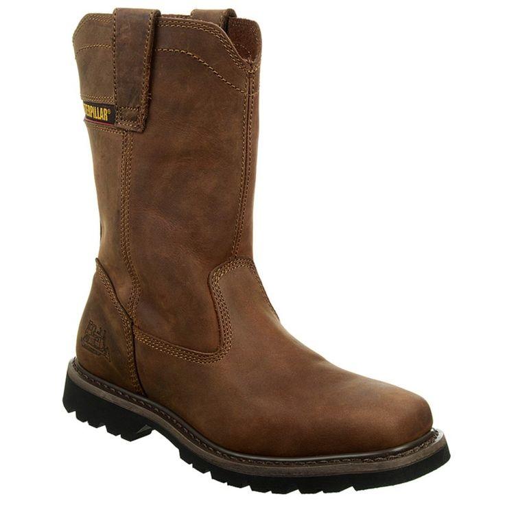 Caterpillar Men's Wellston Medium/Wide Pull On Work Boots (Dark Brown) - 12.0 M