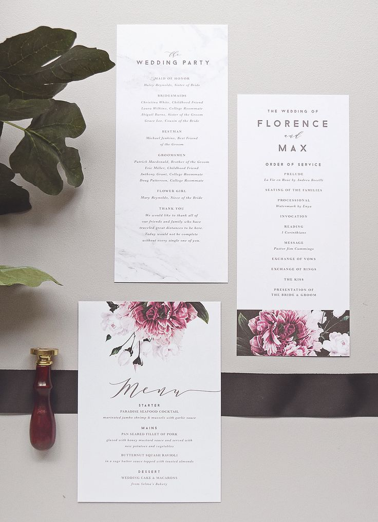 lotus flower wedding invitations%0A Floral and Marble Wedding Invitations by Rachel Marvin Creative