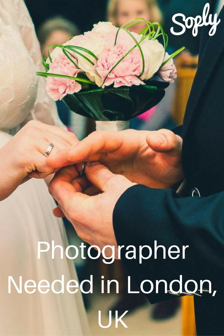 Photographer needed for a wedding in London, UK. The #client will need you for a few hours on June 24th, 2017. See the wedding job and apply by clicking the pin!