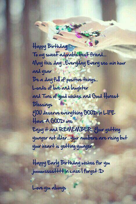 Birthday Wishes Best Friend Happy Bestfriend Greetings Poems