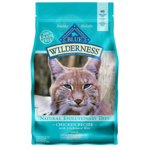 Blue Buffalo Blue Wilderness Adult Indoor Hairball Control Chicken Recipe Dry Cat Food, 5 lbs. *** To view further for this sponsored item, visit the image link.