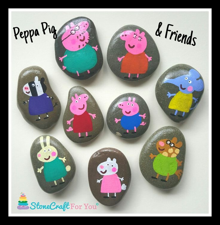 Peppa Pig Story Stones x   You can find me on facebook https://m.facebook.com/stonecraftforyouuk