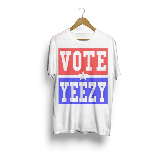 VOTE YEEZY Kanye West 2020 president campaign t-shirt tee shirt