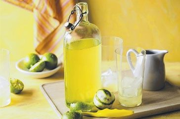 Lime cordial by Matt Preston - So good! Use lemons instead if you don't have limes.