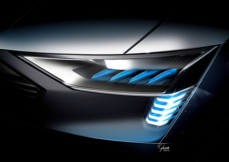 Audi e-tron quattro concept - Headlight Design Sketch