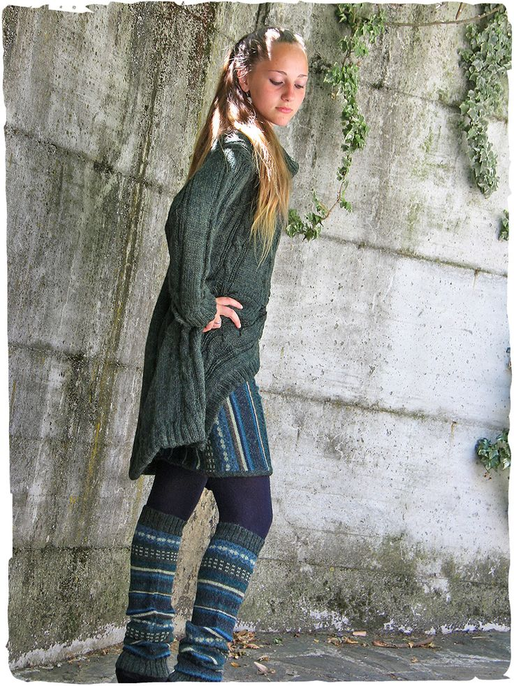 Gina sweater-coat Very nice #alpaca #wool #coats . Wonderful work of plaits in this coat with poloneck - ceramic buttons