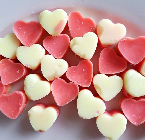 Rhubarb & Custard Wax Melts £2 https://www.etsy.com/uk/listing/513790686/rhubarb-and-custard-heart-shaped-wax