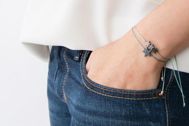 Charm Bracelets – Star bracelet - Hematite – a unique product by MoiSesseBracelets on DaWanda
