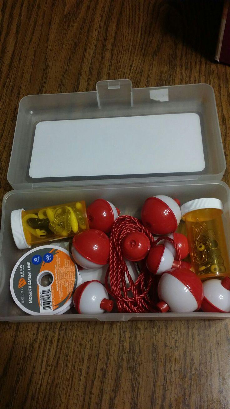 Fishing kit for 10-14 year old boy Operation Christmas Child shoebox.