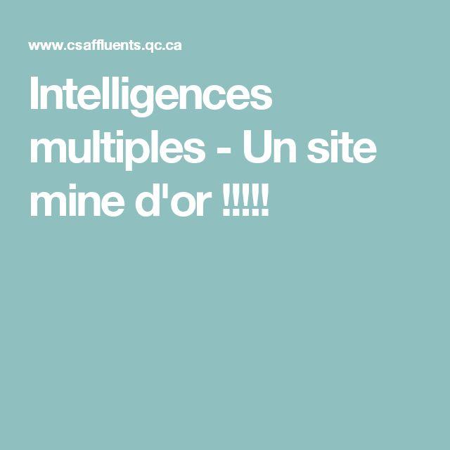 Intelligences multiples - Un site mine d'or !!!!!