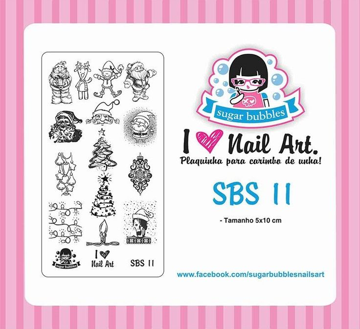 Small Nail Art Stamping Plate Sugar Bubbles SBS 11
