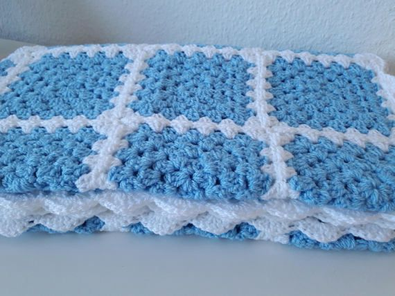 Blue baby blanket WAS £45 NOW £35. Available to buy now from my Phoenix Smiles Etsy store. Why not take a look?