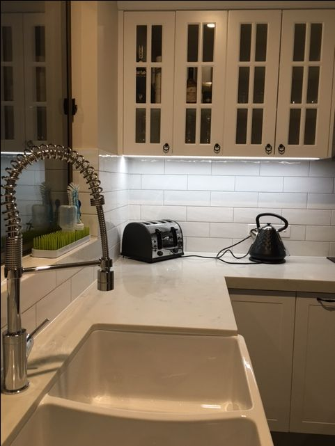 Custom designed kitchen  #marble #White