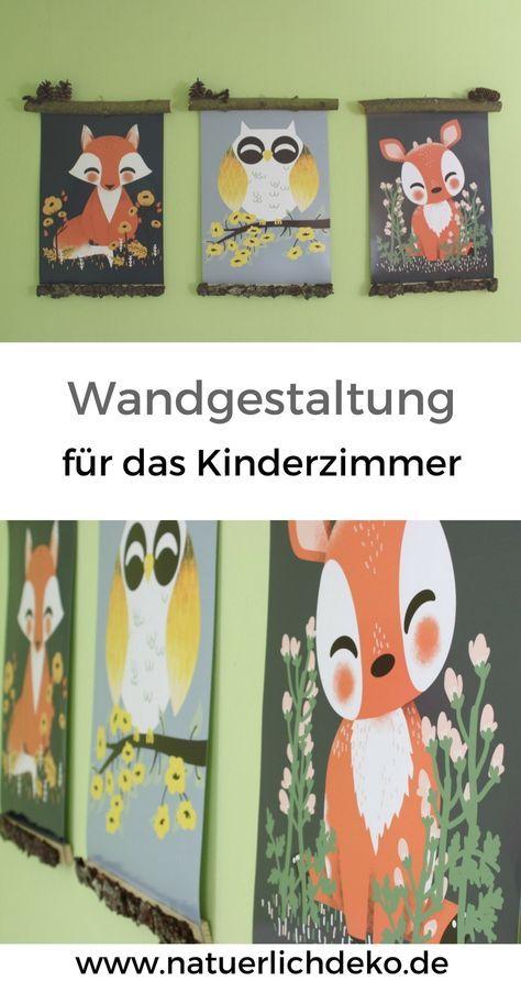 Deko Im Waldkinderzimmer: Magnetische Posterleisten Aus Holz Ganz Einfach  Selber Basteln. Poster Kinderzimmer,