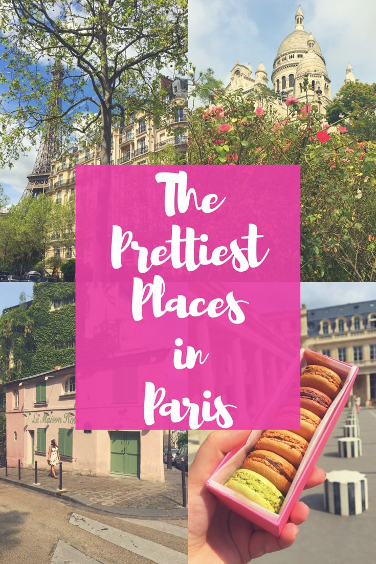 11 Pretty Places to See in Paris! This city is one of the most beautiful places in the world! Every time I visit I fall more and more in love with its romantic streets and French architecture. Paris offers some of the best scenery to take pictures that the world has to offer! So here is my travel guide for the most picture-worthy​ spots in Paris