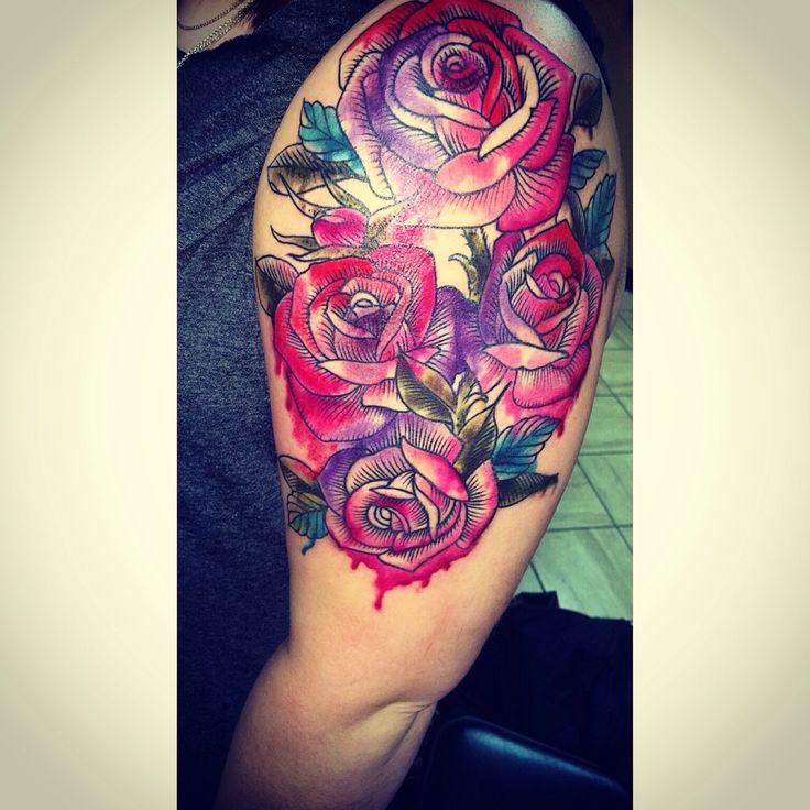 watercolour tattoos rose - Google Search
