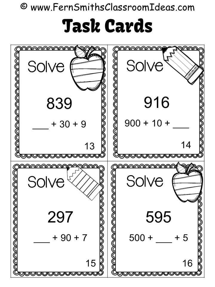 Sample of Black and White Task Cards Included in Break