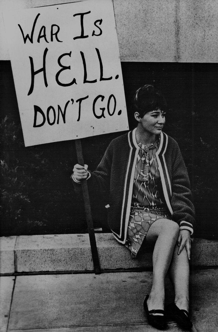 Vietnam War protester, San Francisco, 1960s