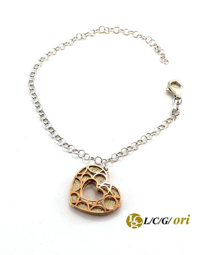 Bracciale in argento 925 cuore rose. Maggiori informazioni WWW.lcgori.com