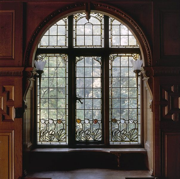 Interieur aanzicht glas in lood raam amsterdam 20366043 for Interieur amsterdam