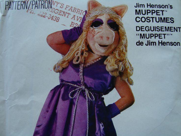 Child's Miss Piggy Costume & Mask/Vogue Craft Pattern 8475 Size Child 2-4 6-8 10-12/ Jim Henson Muppet Costume Halloween Costume Party Uncut by RedWickerBasket on Etsy