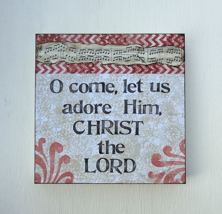 Oh Come Let Us Adore Him Wood Signs Christmas Signs Wood: Christmas Decor, Scripture Art, O Come Let Us Adore Him