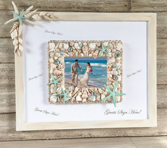 Beach Wedding Guest Book Alternative Wedding by ThePaintedPearlSRQ