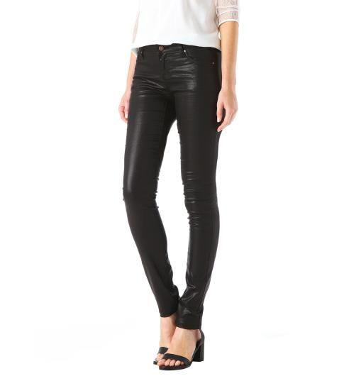 Coated skinny trousers, Promod
