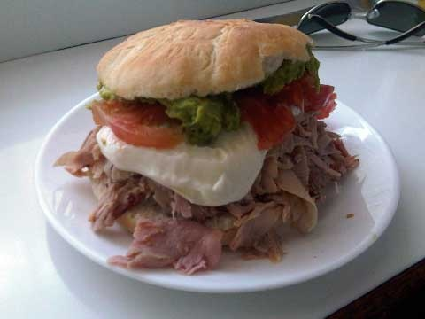 Lomito palta mayo. Fuente Alemana, Chile...Oh! How I miss this!
