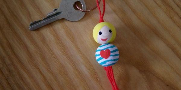 Valentijns sleutelhanger knutselen (+ uitgebreide foto werkbeschrijving)