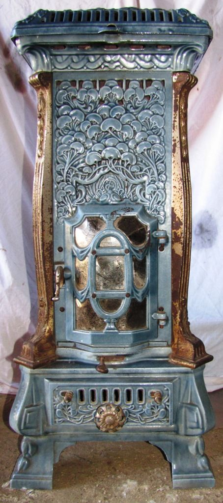 "French ""Monopole 116"" Art Nouveau Multi-fuel Stove by Deville, circa 1910-ish"
