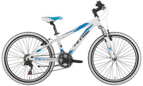 Ferrini 24 Zoll MTB RIDE, Alu, 18 Gang, blau-weiß Fahrrad Bike Kinderfahrrad