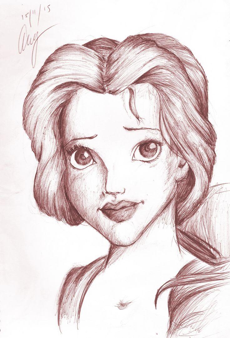 Belle - By Anthony Keutzer #Beauty #Beast #Beauty&Beast #Belle #Sketch #Rough #Classic