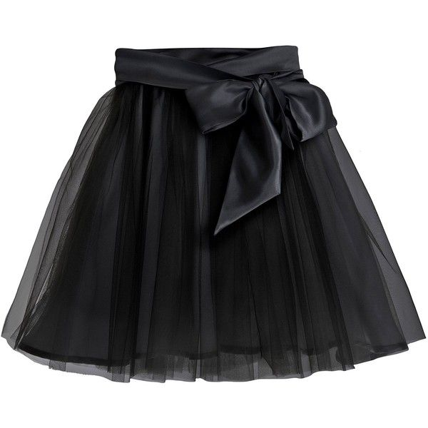 Little Wardrobe London - Fairytale Tulle Skirt with Satin Sash Black (178 AUD) ❤ liked on Polyvore featuring skirts, satin midi skirt, sash belt, satin skirt, calf length skirts and mid calf skirts