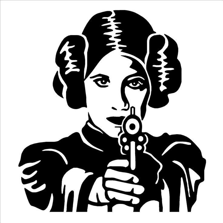 PRINCESS LEIA STAR WARS vinyl wall art room sticker decal movie themed | eBay