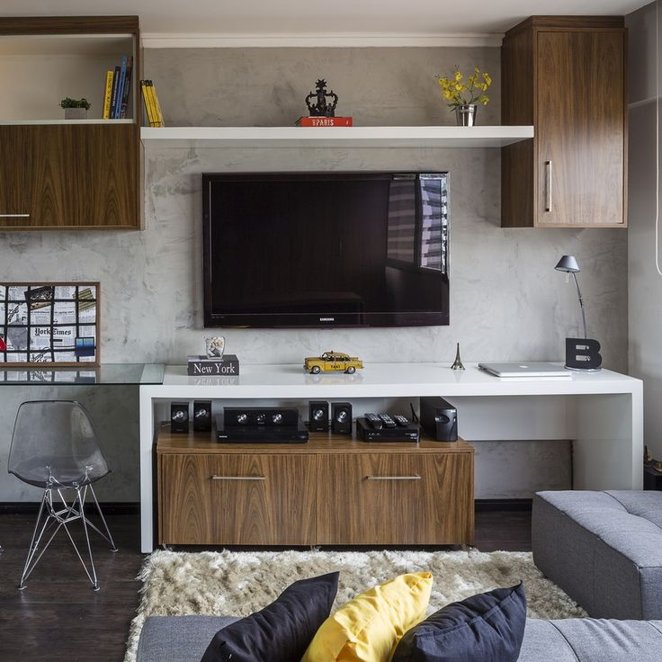Ideas for decorating a small apartment - get inspiration from this tiny 30 square meter apartment in Brazil