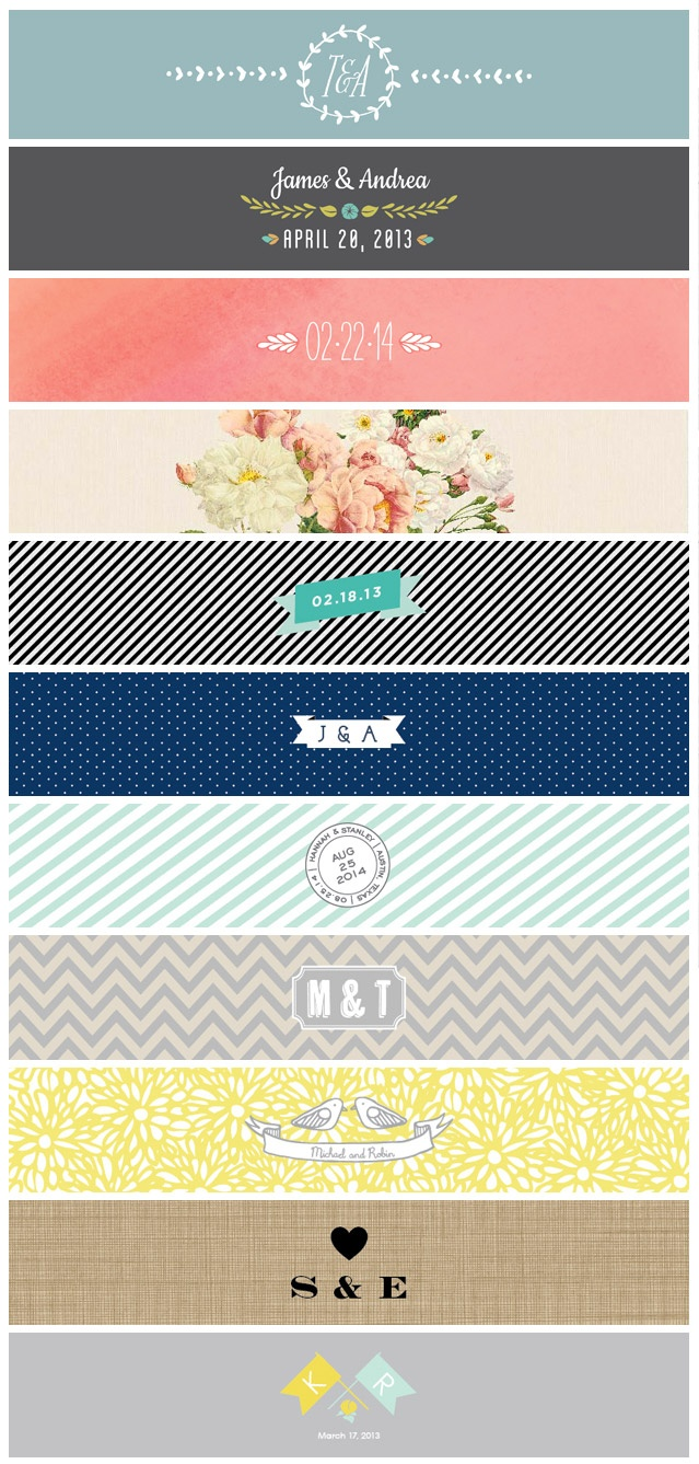70 new Belly bands to package your wedding invitations