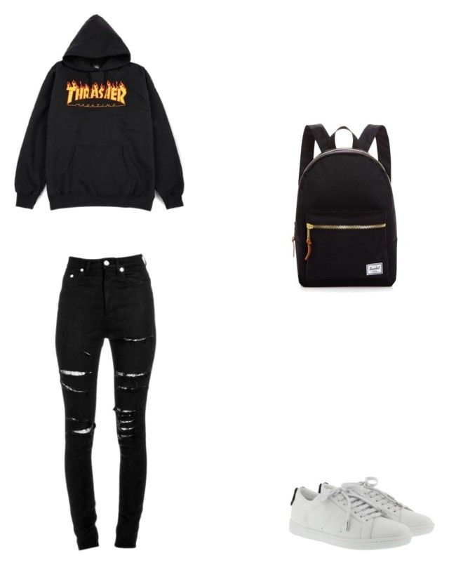Bez tytułu #82 by wiki208 on Polyvore featuring moda, Yves Saint Laurent and Herschel Supply Co.
