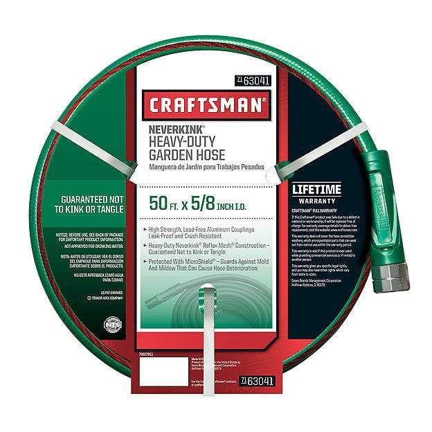 #Sears: Craftsman Garden Hose: 75' Premium All Rubber $24.49 50' Neverkink Self-Straightening $13.99  Free Sto... #LavaHot http://www.lavahotdeals.com/us/cheap/craftsman-garden-hose-75-premium-rubber-24-49/68225