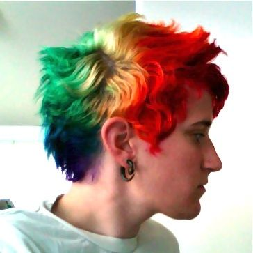 rainbow short hair | rainbow short hair | My Style