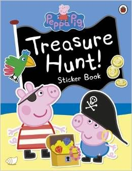 Peppa Pigs Treasure Hunt - Shiver me timbers, it's Pirate Day! Peppa and George and all their friends have lots of pirate adventures and even find some treasure in this sticker scene book. This swashbuckling book is packed with lots of Peppa Pig stickers for your little piggies to enjoy.