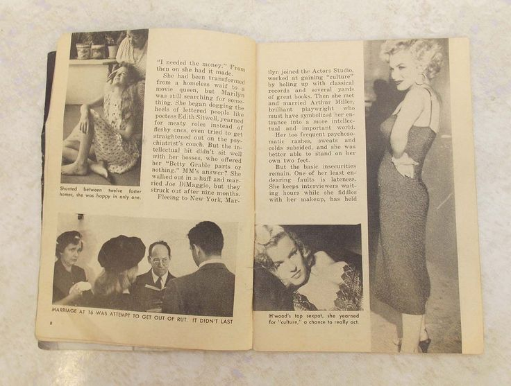 Vintage Show Magazine Nov 1957 Marilyn Monroe Article Photos Susan Darby Cover | eBay